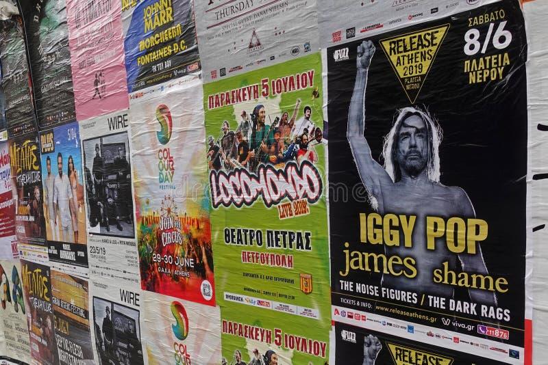 Plakaty muzyki na żywo iggy pop zdjęcia royalty free