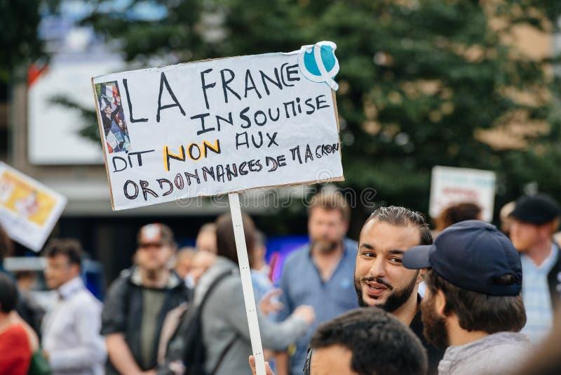 Plakaty przy protestem zdjęcia royalty free