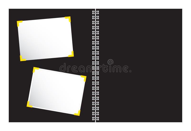 Plakboek met de vector van de fotoillustratie vector illustratie