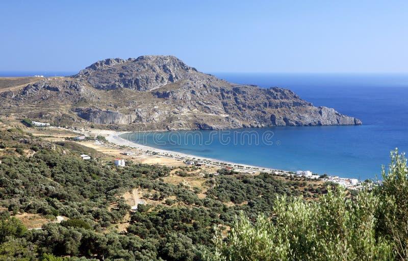 plakias Крита залива стоковые изображения