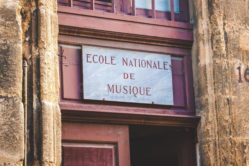 Plakieta nad wejściem w Provence fotografia royalty free