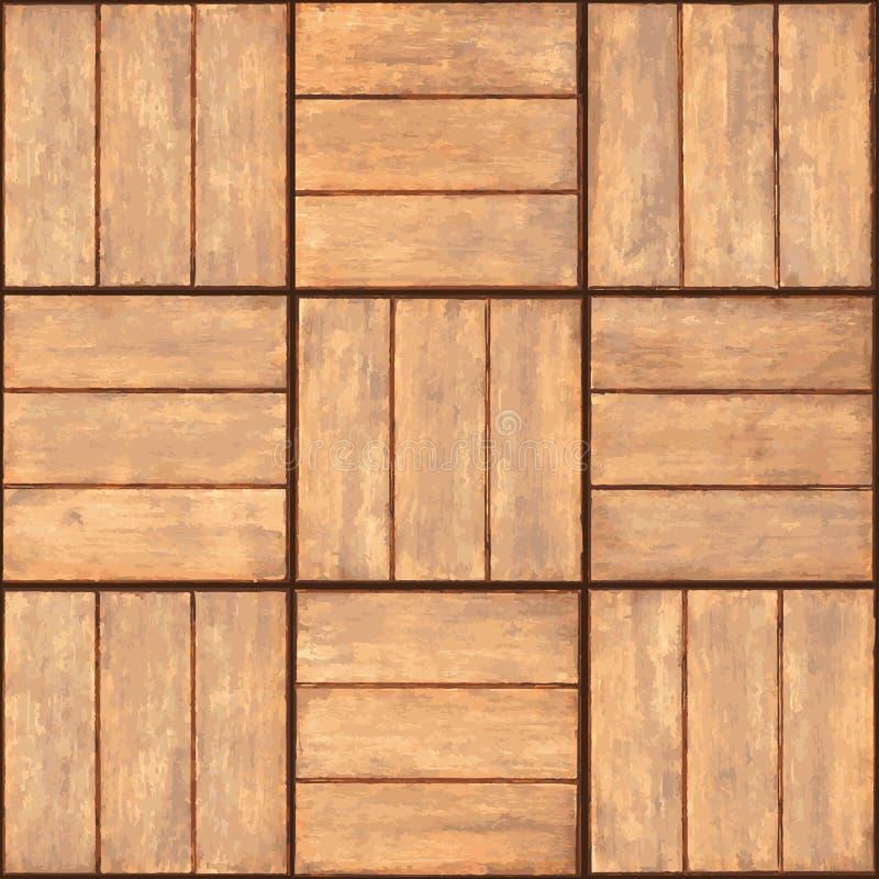 plakiety bezszwowa tekstury ściana drewniana royalty ilustracja