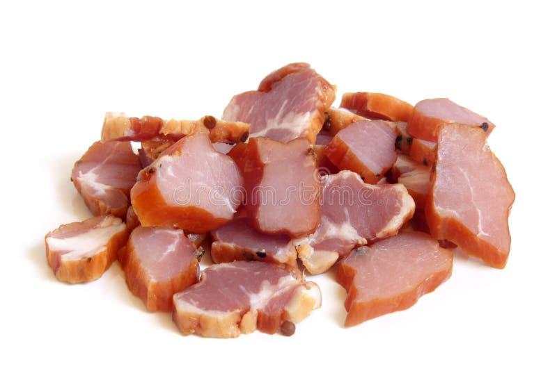 Plakken van bacon stock fotografie