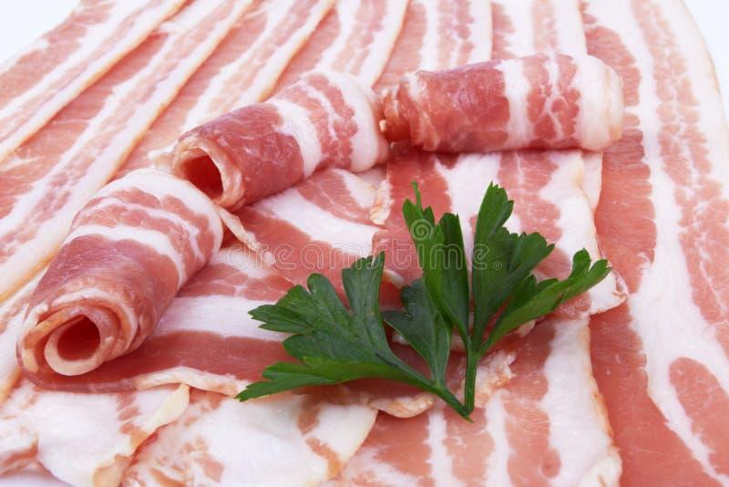 Plakken van gerookt bacon royalty-vrije stock foto