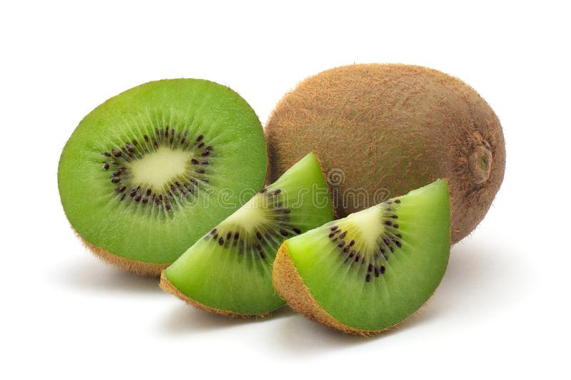 Plakken van kiwifruit stock afbeelding