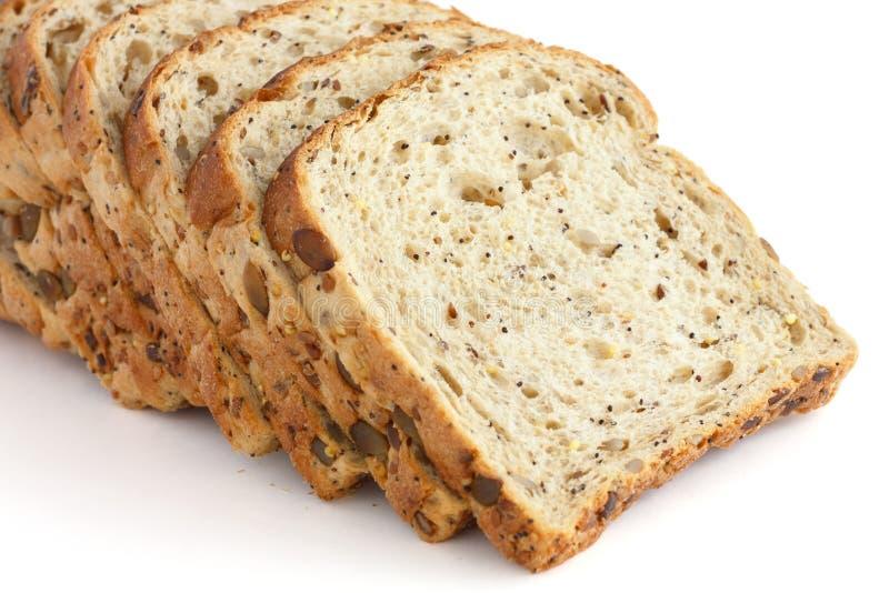 Plakken van multi-zaadwhole-wheat brood royalty-vrije stock afbeeldingen