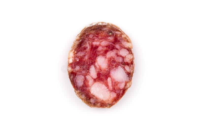 Plakken van salami royalty-vrije stock fotografie