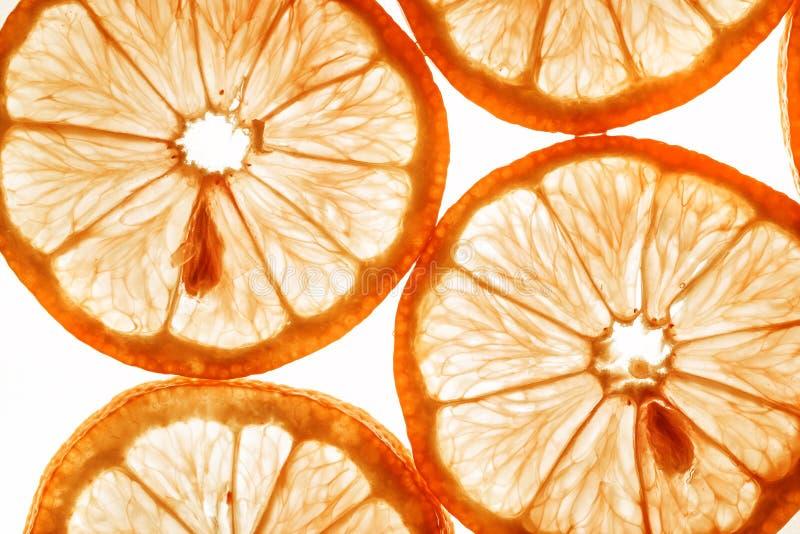 Plakken van sinaasappel stock foto's