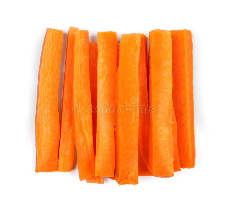 Plakken van verse wortelen stock fotografie