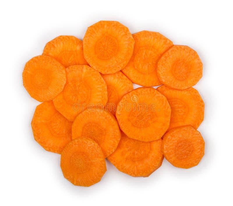 Plakken van verse wortelen stock afbeeldingen