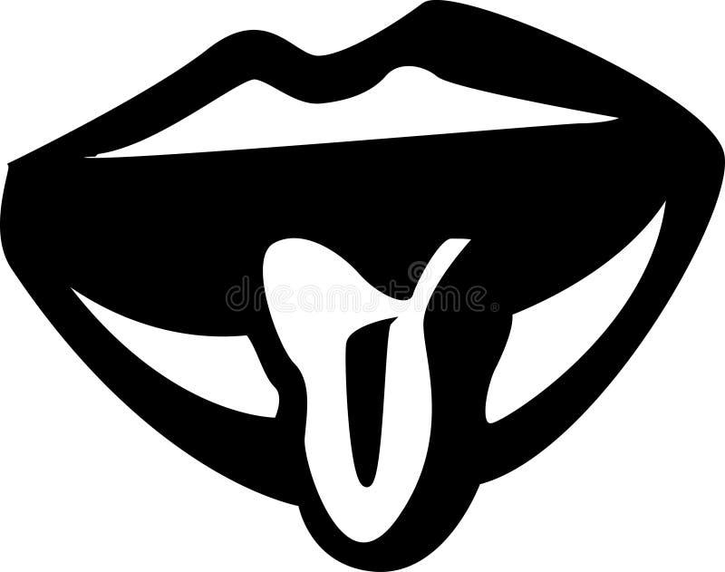 Plakkende tong uit royalty-vrije illustratie