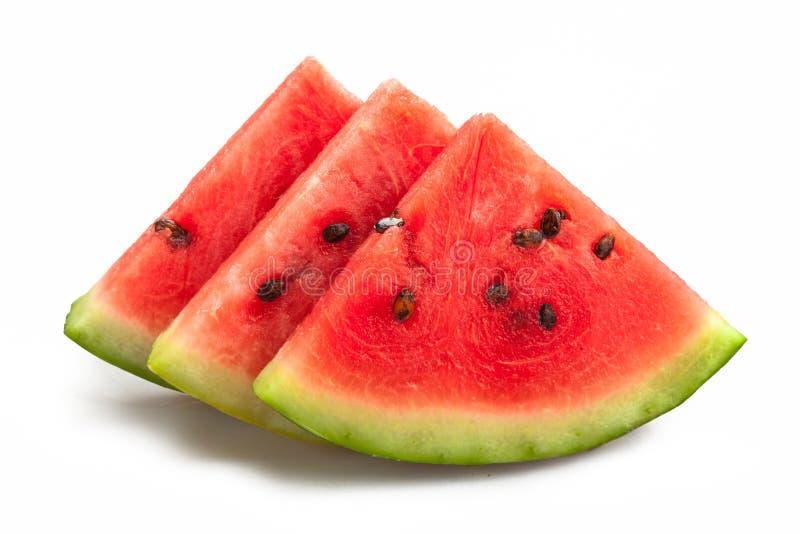 Plakkenstapel van Watermeloen stock afbeeldingen