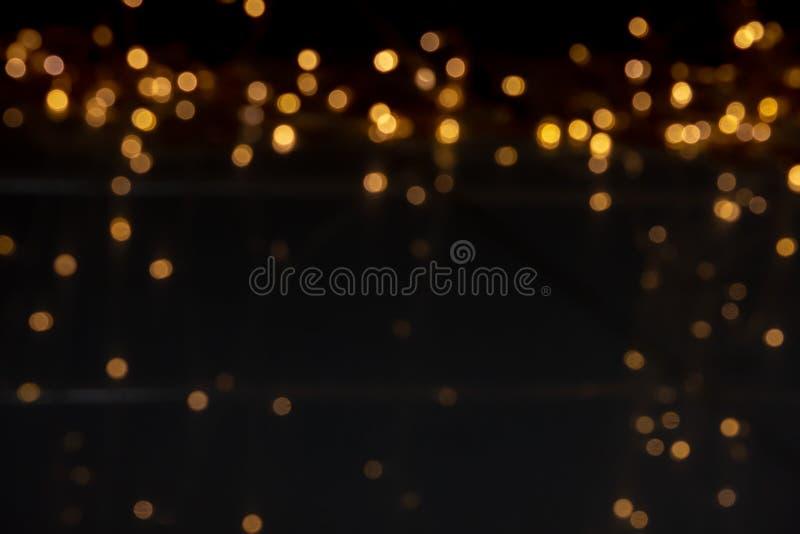 Plama żarówka dla dekoracyjnego żółtego złota jako backgrou, zdjęcia stock