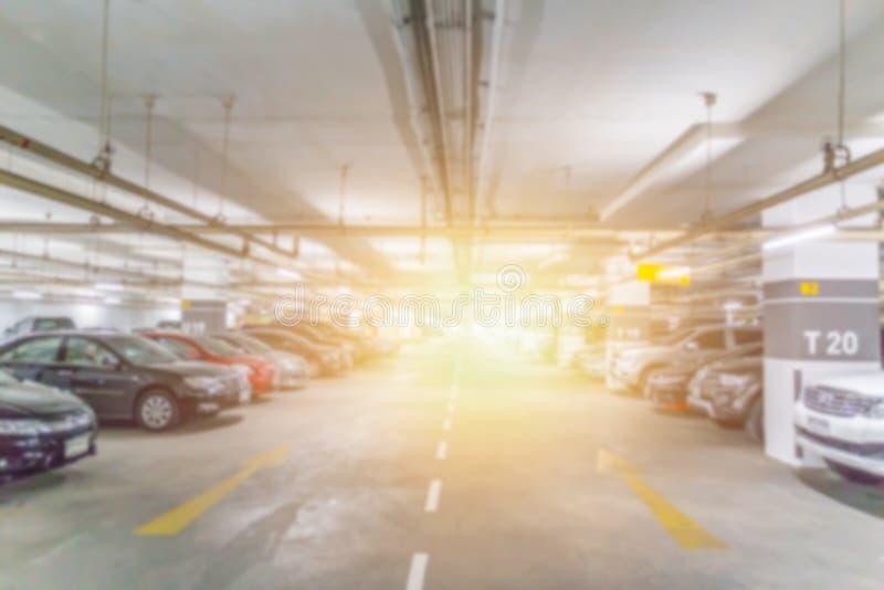 Plama samochodowy parking obraz stock