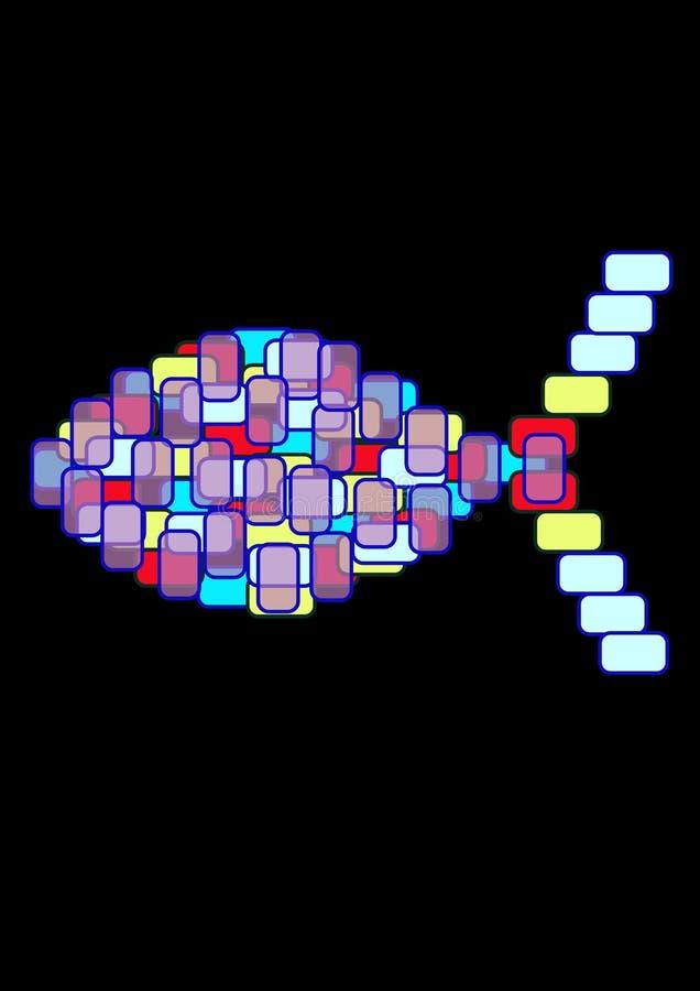 plama szklana ryb ilustracji