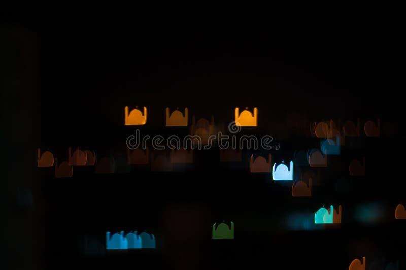 Plama wizerunek Kuala Lumpur miasto, meczetowy bokeh kształt z lekkim śladem royalty ilustracja