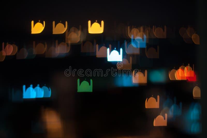 Plama wizerunek Kuala Lumpur miasto, meczetowy bokeh kształt z lekkim śladem ilustracja wektor