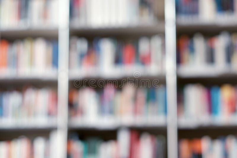 Plama wizerunek p??ka z ksi??kami w bibliotece T?o zdjęcia royalty free