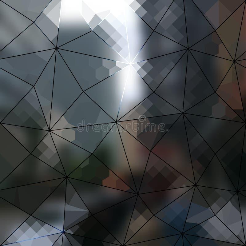 Plama zaświeca miasta tło ilustracji