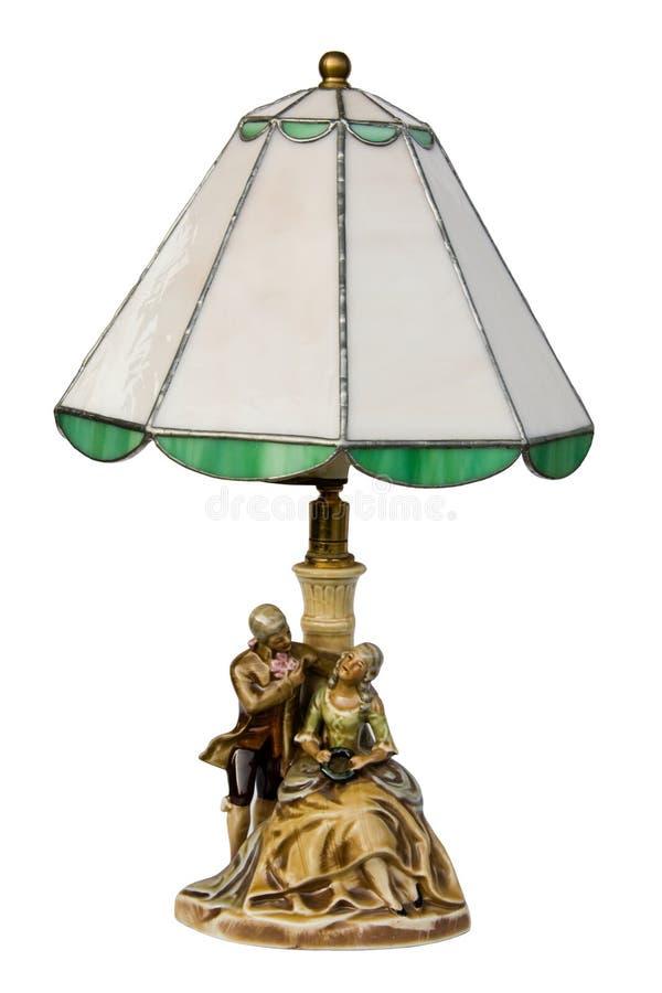 plamiąca odosobniona szkło lampa zdjęcia stock