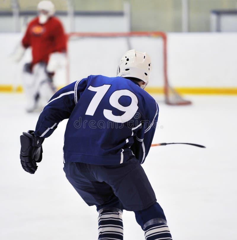 plamy gracz w hokeja s obrazy stock