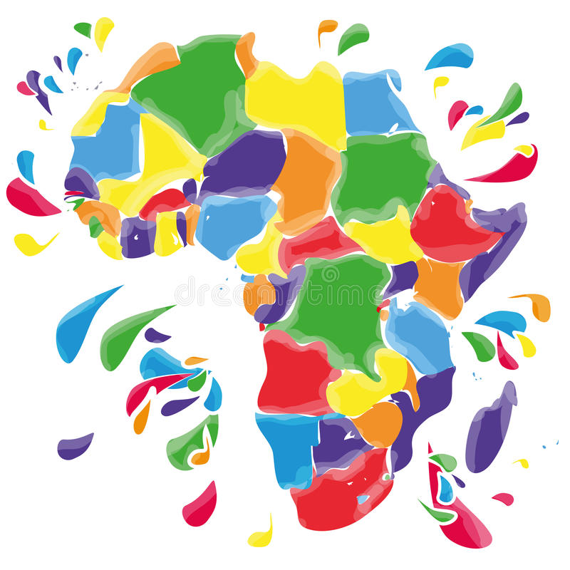 Plamy i kleksy z Afryka ilustracja wektor