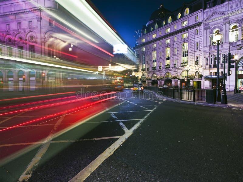 plamy London autobusowa prędkości zdjęcia stock