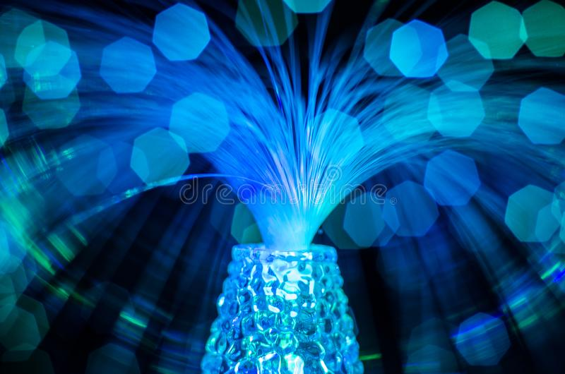Plamy nocy bokeh błękitnej czerwieni zieleni round światła obraz royalty free