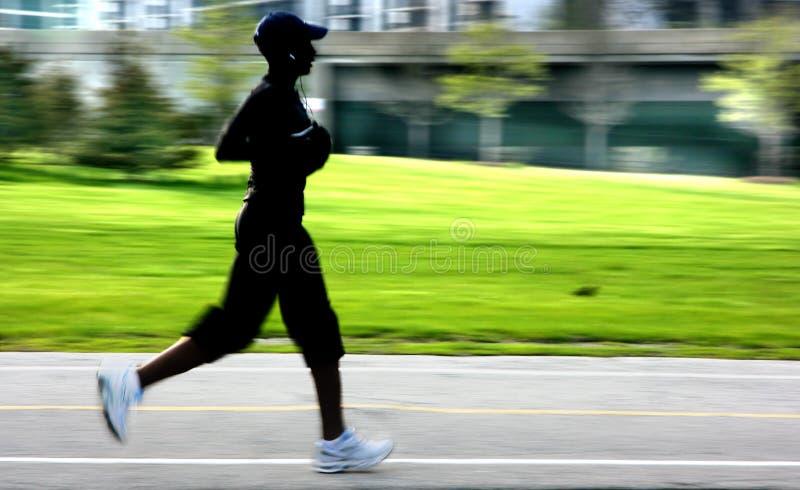 plamy panning jogging silhouett obrazy royalty free