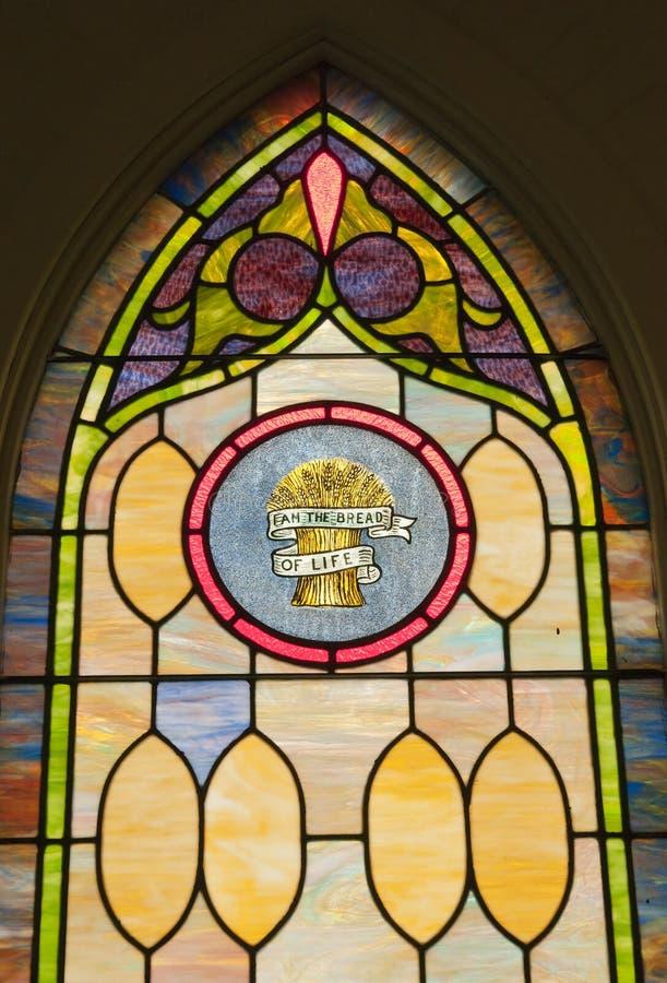 Plamy Szklany Religijny Okno Obrazy Royalty Free