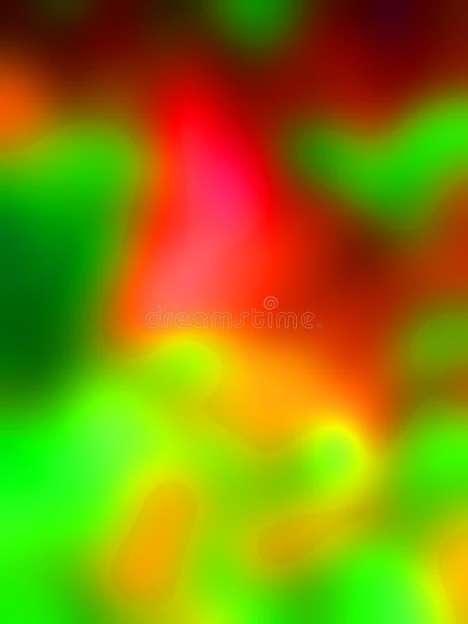 plamy tła gwiazdkę zielona czerwona tapeta royalty ilustracja