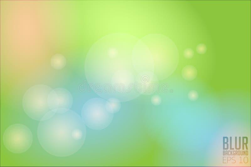 Plamy tła zieleni wektoru bokeh royalty ilustracja