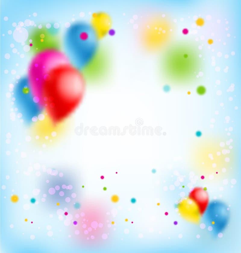 Plamy wszystkiego najlepszego z okazji urodzin sztandar ilustracja wektor