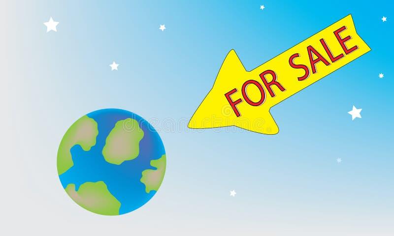 Planète à vendre illustration stock