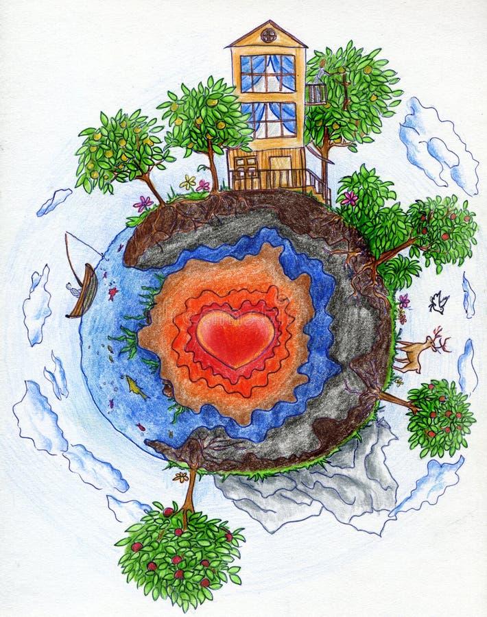 planète 2 petite illustration de vecteur
