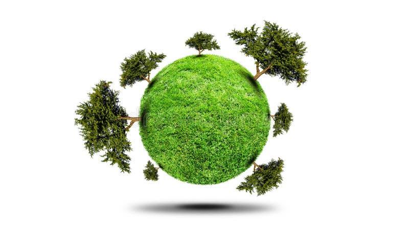 Planète avec l'arbre illustration stock
