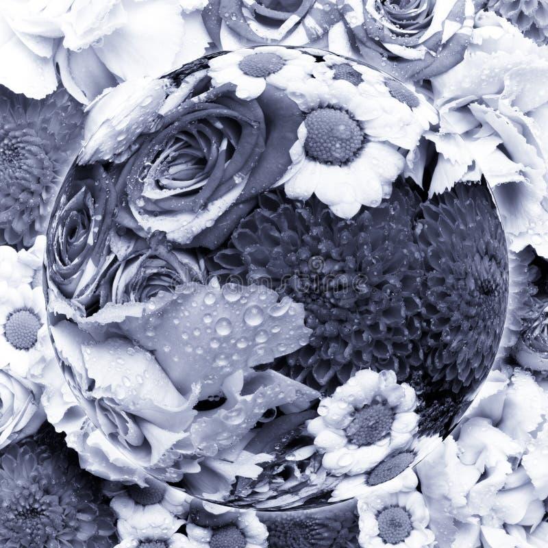 Planète avec le beau bouquet des fleurs naturelles Focu sélectif photos libres de droits