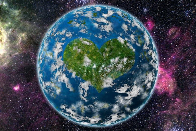 Planète de coeur photographie stock