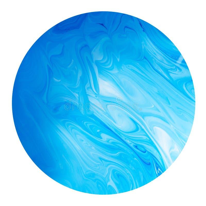 Planète bleue d'isolement sur le fond blanc image libre de droits