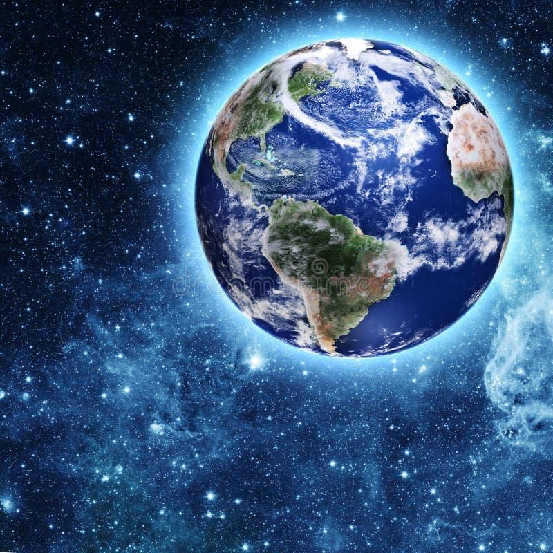 Planète bleue dans le bel espace photo libre de droits