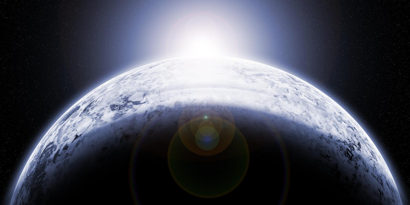 Planète congelée images stock
