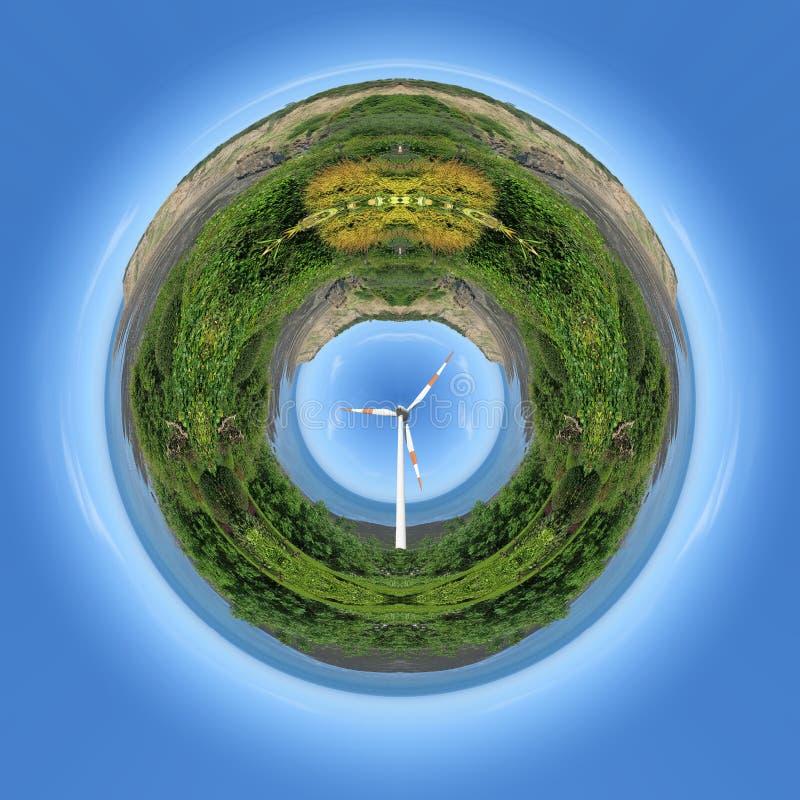 Planète d'énergie éolienne illustration libre de droits