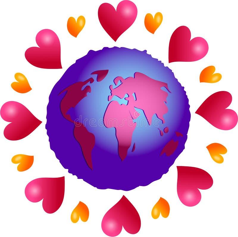 Planète d'amour illustration de vecteur