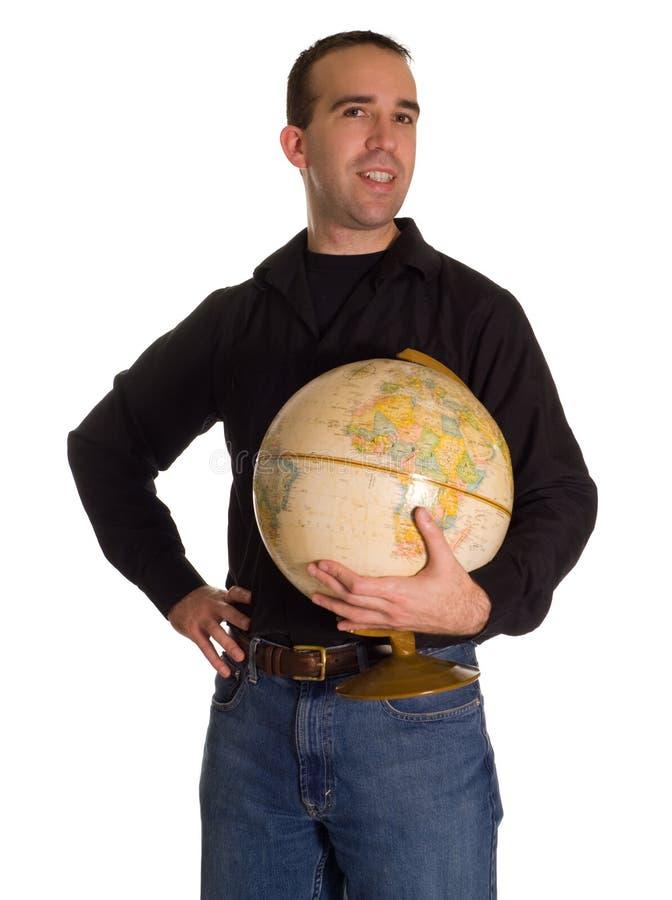 planète d'homme de fixation photo libre de droits