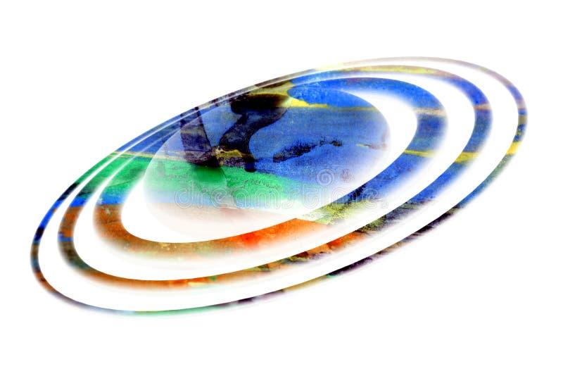 Planète d'isolement sur le fond blanc, galaxydesign images libres de droits