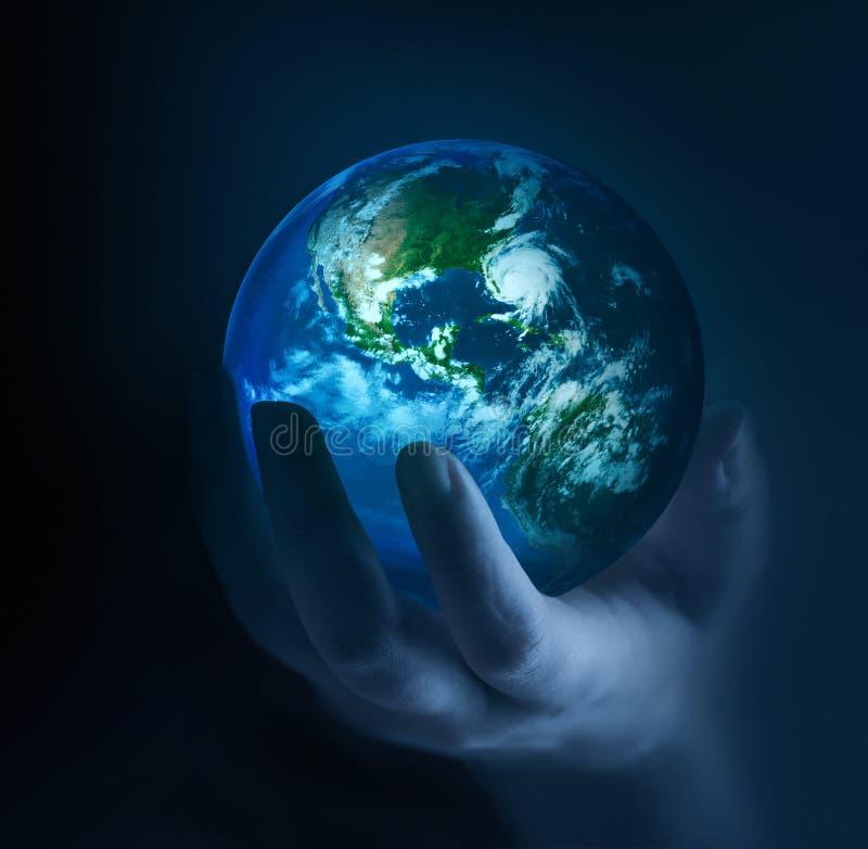 Planète dans l'obscurité photo libre de droits