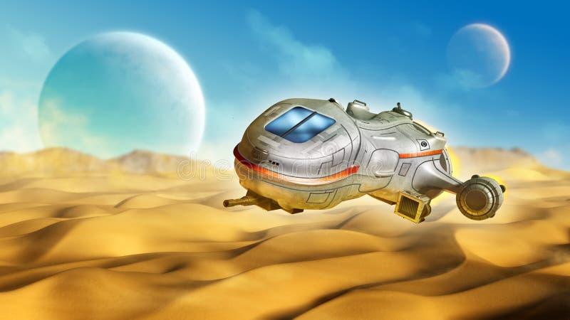 Planète de désert illustration de vecteur