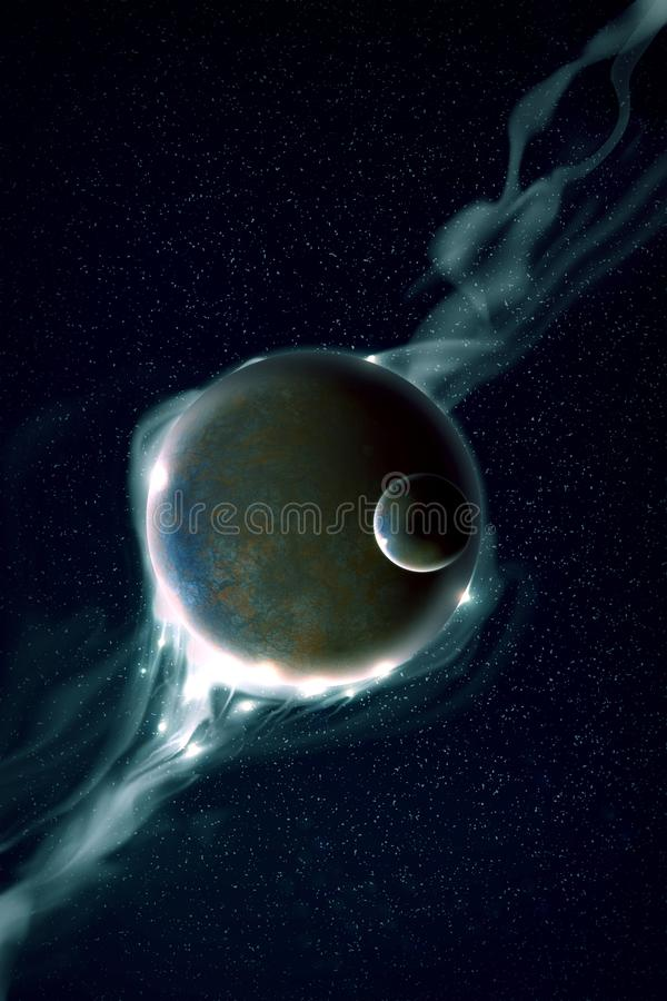 Planète Et Galaxie Images Stock
