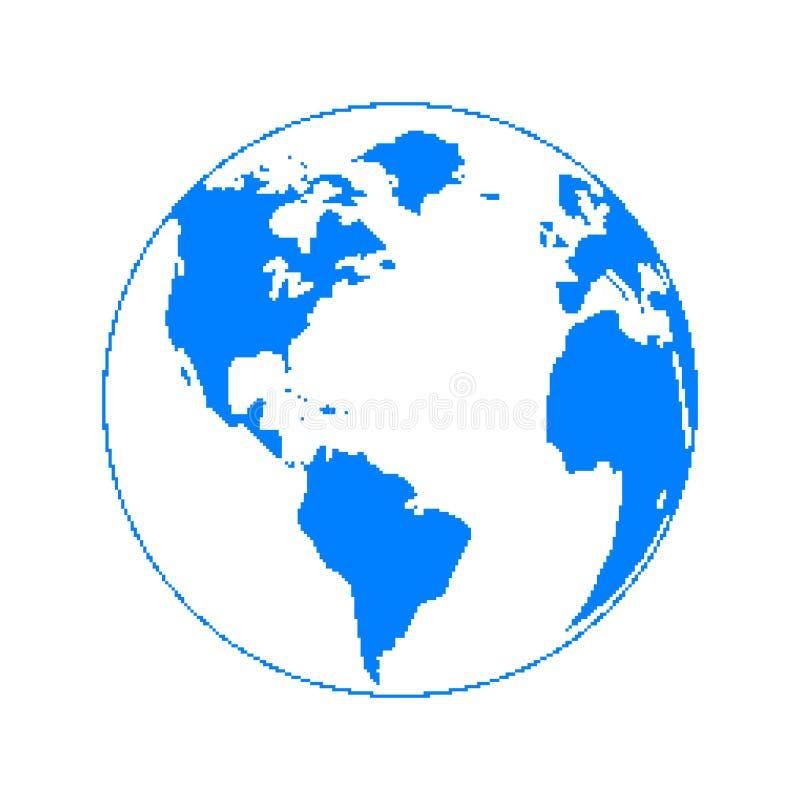 Planète de pixel illustration de vecteur