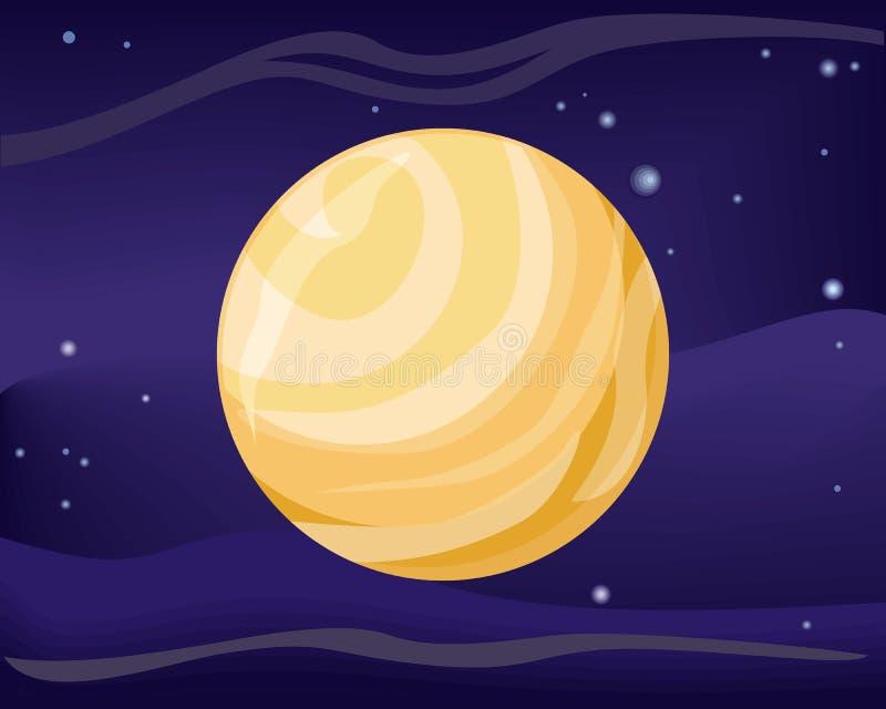 Planète de Pluton Système de Sun Univers Vecteur illustration de vecteur